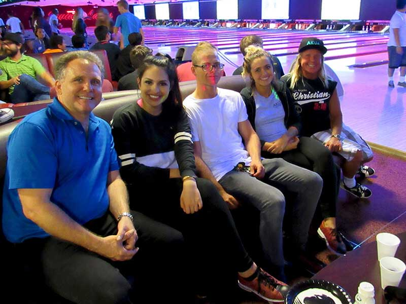 Akua Bowling Alley Fun Group Photo